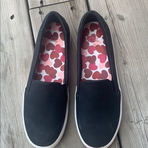 Call It Spring Luv Sneaker Flat in Black size 8.5